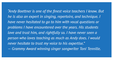 Testimonial - Toni Tennille - about Andy Boettner of Boettner Vocal Studios - Orange County