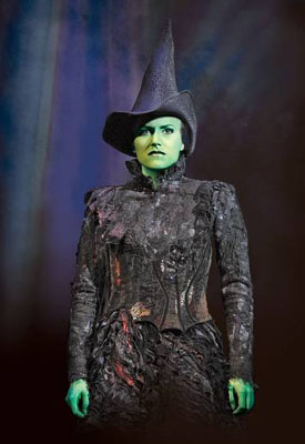 Nicole Parker as Elphaba in Wicked